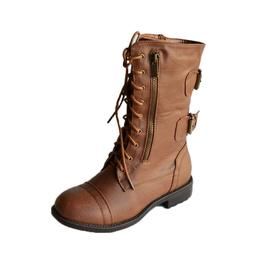 T-72 Women Boots Combat Military Lace Up Buckle  Fashion Sho