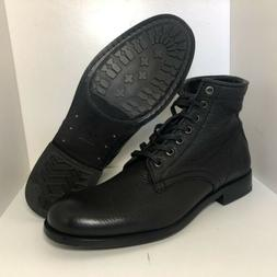 Frye Tyler Boots Combat Black Ankle Lace Up Soft Leather Wom