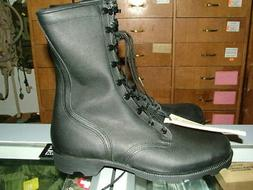 US MILITARY LEATHER BLACK COMBAT BOOTS SPEEDLACE VARIOUS SIZ