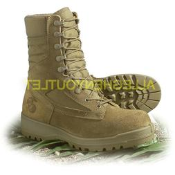 USMC US Military HOT WEATHER COMBAT BOOTS Coyote Sizes 3 Thr