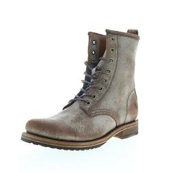 Frye Veronica Combat 70589 Womens Brown Suede Lace Up Casual