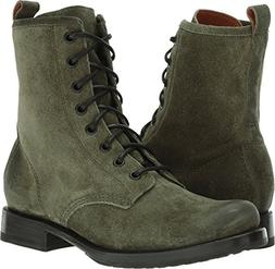 FRYE Women's Veronica Combat Boot, Forest Soft Oiled Suede,