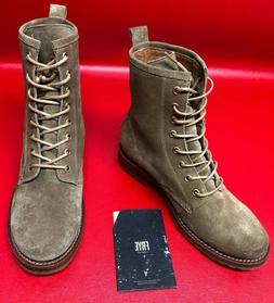 Frye Veronica Combat Boots Light Forest 7.5B oiled suede bra