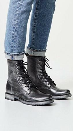 Frye veronica Leather Combat Boots, New in Box, Size 9, blac