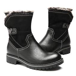gracosy Winter Snow Boots Outdoor Fur Lined Warm Ankle Booti