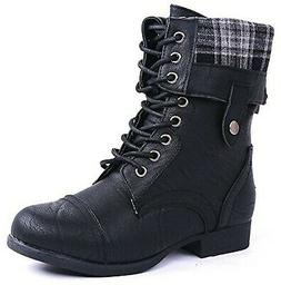 women military combat foldable cuff faux leather