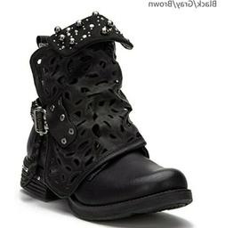 women motorcycle boots combat ankle combat boots