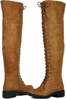 Women Over The Knee Boots Tall Lace Horse Riding Boots Thigh