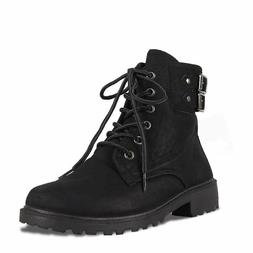 Forever Link Women's Boots Whitney-26 Black Combat Military