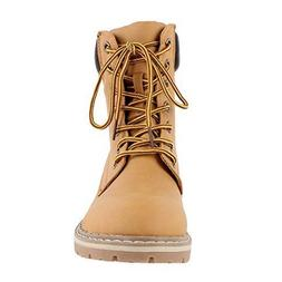 Forever Women's Broadway-3 Combat Hiking Boots,9 B US,Camel