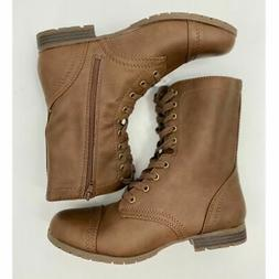 Time and Tru Women's Brown Combat Boots - NEW - Size: 11