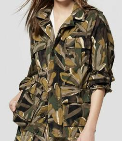 Who What Wear Women's Camo Leaf Print Jacket Sz S Small NWT