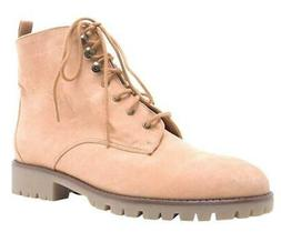 Cambridge Select Women's Closed Round Toe Lace-up Chunky Lug