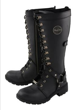 Milwaukee Leather Women's Combat Style Harness Boot**MBL9380
