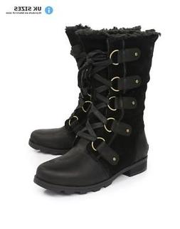 Sorel Women's Emelie Lace Up Boots - Black