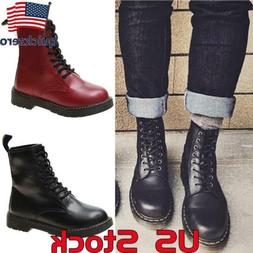 Women's Fashion Lace-Up Combat Boots Lady Round Toe Martin