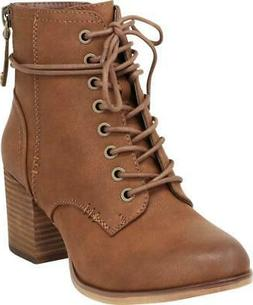 women s lace up combat chunky stacked