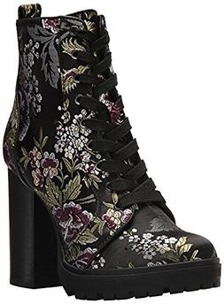 Steve Madden Women's Laurie Combat Boot, Floral Multi, 8 M U