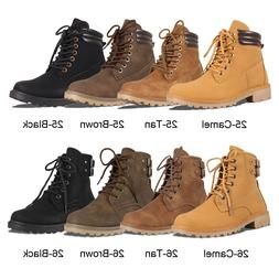 women s military lace up ankle combat