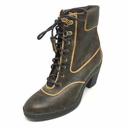 Women's NEW Timberland 63644 Combat Boots Shoes Size 8M Brow