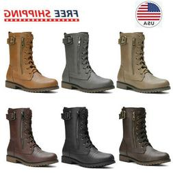 DREAM PAIRS Women NewMission Military Pull-on Pocket Ankle C