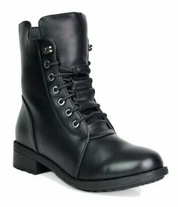 women s panther black mid calf military