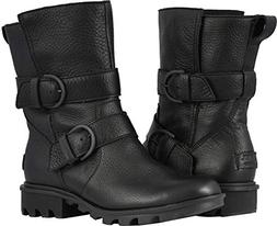 SOREL Women's Phoenix Moto Boots, Black, 9 M US
