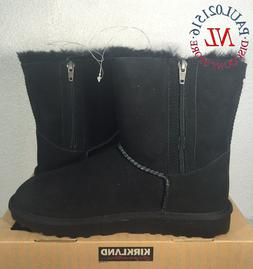 NEW Kirkland Signature Women's Shearling Zipper Boots ~ Blac