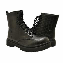 Women's Shoes Soda GRUNGE High Ankle Lace Up Vegan Combat Bo