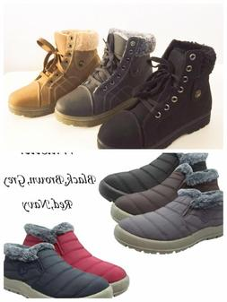 Women's Sneaker Boots Winter High Top Lace up Fur Combat War