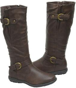 DREAM PAIRS Women's Summit/Trace Knee High Winter Military C