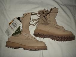 "WOMEN'S ""ROCKY"" TAN TEMPERATE WEATHER LEATHER US ARMY COMBAT"