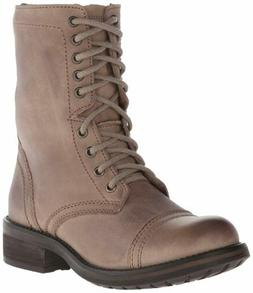 Steve Madden Women's Troopa 2.0 Combat Boot, Stone Leather,