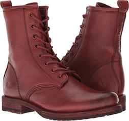 FRYE Women's Veronica Combat Ankle Boot, red Clay, 9.5 M US