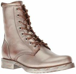 FRYE Women's Veronica Combat Ankle Boot, Saddle Multi, Size