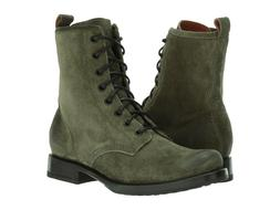 Frye Women's Veronica Combat Boots Size 8 Forest Suede, MSRP