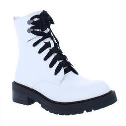 Madden Girl by Steve Madden Womens Alicee White Combat Boots