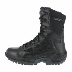 Reebok Womens Black Leather WP Tactical Boots Rapid Response