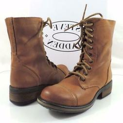 Womens Shoes Steve Madden Tropa 2-0 Lace up Combat Boots Lea