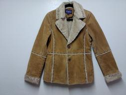 Lebaz Womens Winter Coat Size M Brown Leather And Faux Fur J