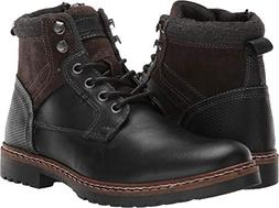 Steve Madden Men's Wooster Ankle Boot, Black Leather, 9.5 M